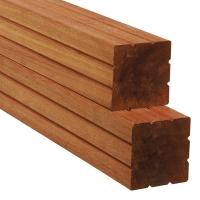 Hardhouten tuinpaal 70x70 gepunt